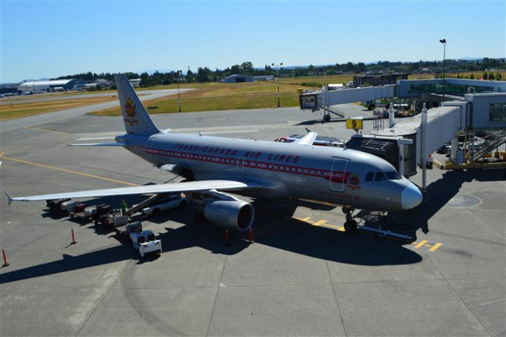 July - Air Canada's tribute to Trans Canada Airlines (TCA) with painted A319 aircraft.