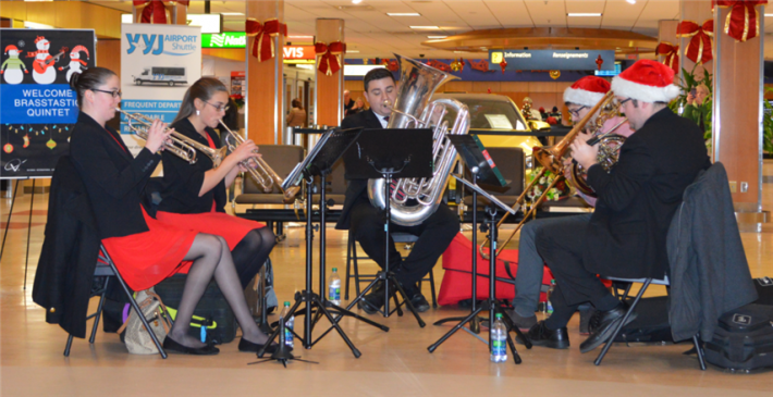 December - Holiday Music Performance by Brasstastic.