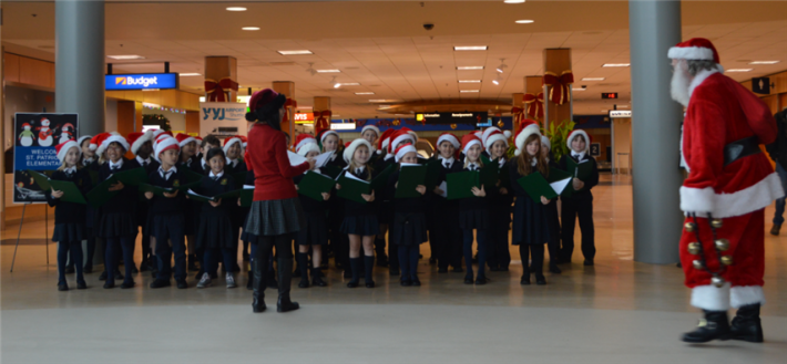 December - Holiday Music Performance by St. Patrick's Elementary.
