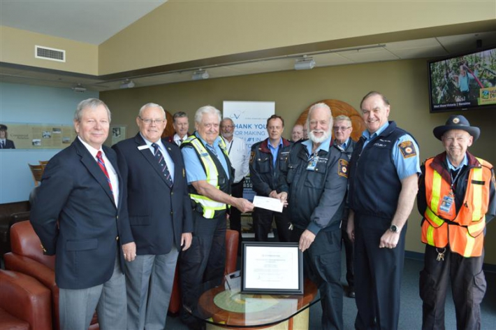 April - YYJ Commissionaires exemplary award ceremony.