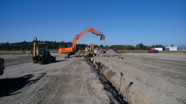 September 30 - Drainage work.