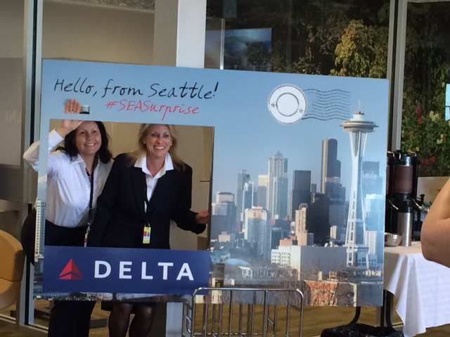 April - Delta Air Lines Inaugural flight to Seattle.