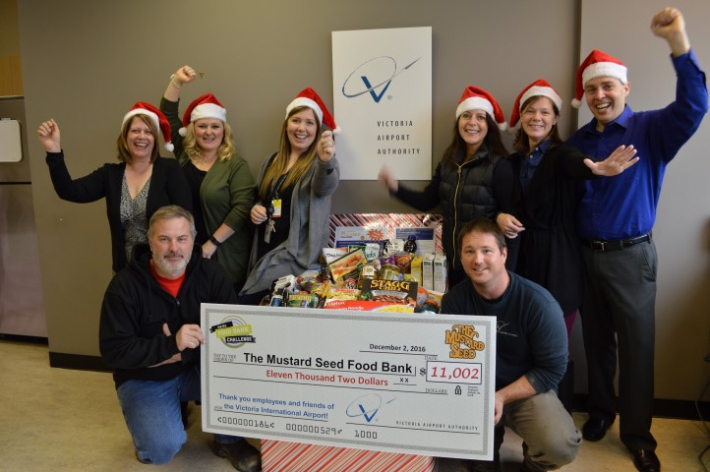 December - Victoria Airport Authority participated in the VIATEC Food Bank Challenge raising over $11K and collecting more than 400lbs of food!
