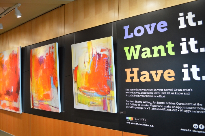 February - New Art Wall in Upper Passenger Departure Lounge.