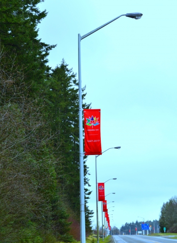 March - Canada 150 banners along Willingdon Road.