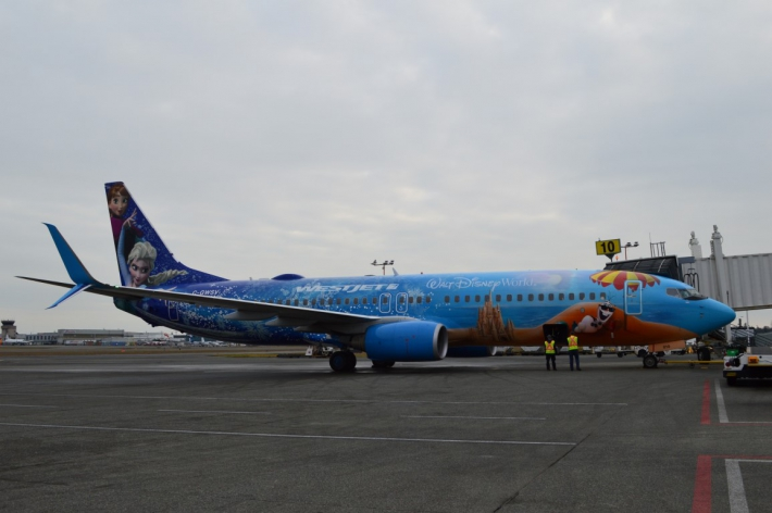 January - WestJet's Disney themed Frozen Plane.