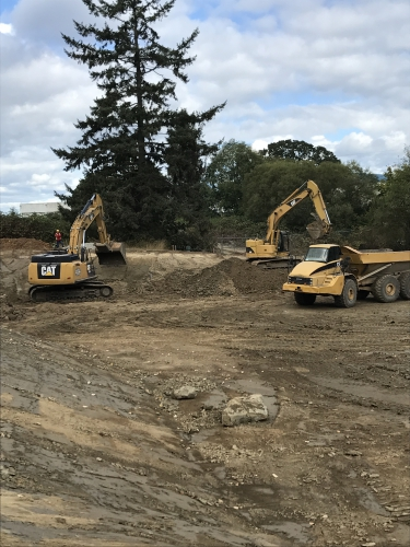 September - Reay Creek Detention Pond work underway.