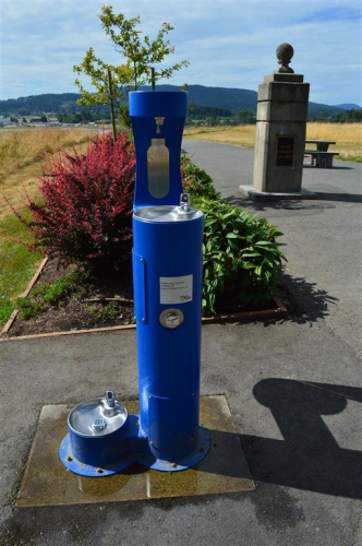 June - Hydration Station with pet bowl at Hospital Hill.