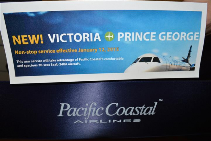 January - Pacific Coastal service to Prince George (YXS) Launch.