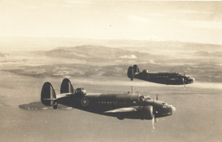 Lockheed Hudson's over Patricia Bay.