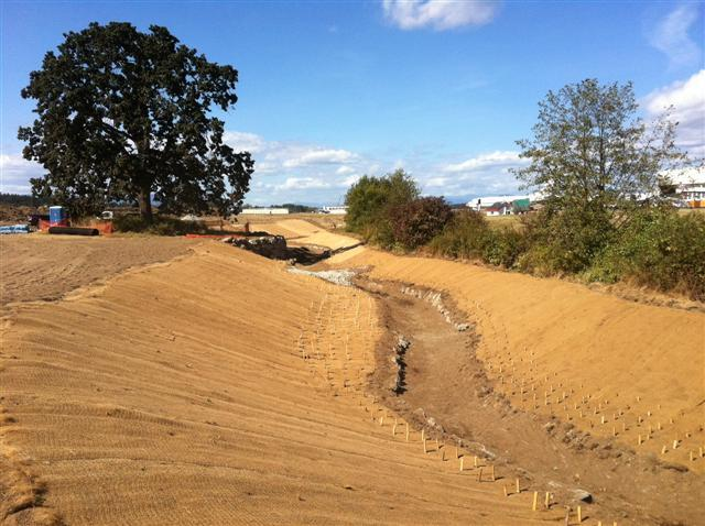 September - Construction of Reay Creek diversion channel.