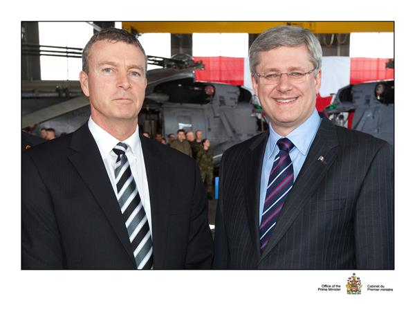 February - Honourable Prime Minister Stephen Harper and VAA President and  CEO Geoff Dickson.