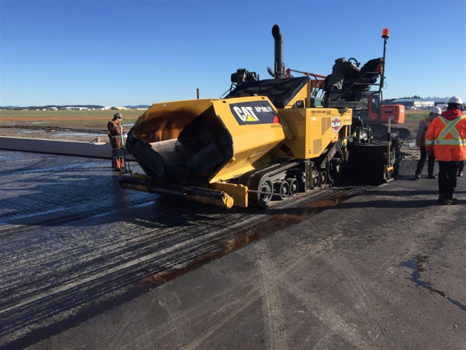 February Progress - Paving work continues with the improvement in the weather.  Additional lifts of asphalt are poured.