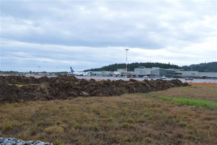 September 1- View of Apron IV Phase 1 Expansion from work site looking south towards air terminal building.