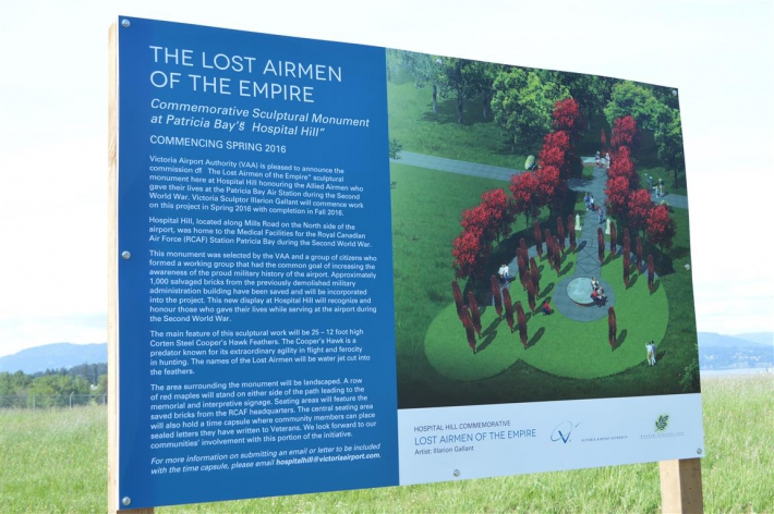April - Announcement of Lost Airmen of the Empire Hospital Hill Commemorative. Artist rendering.