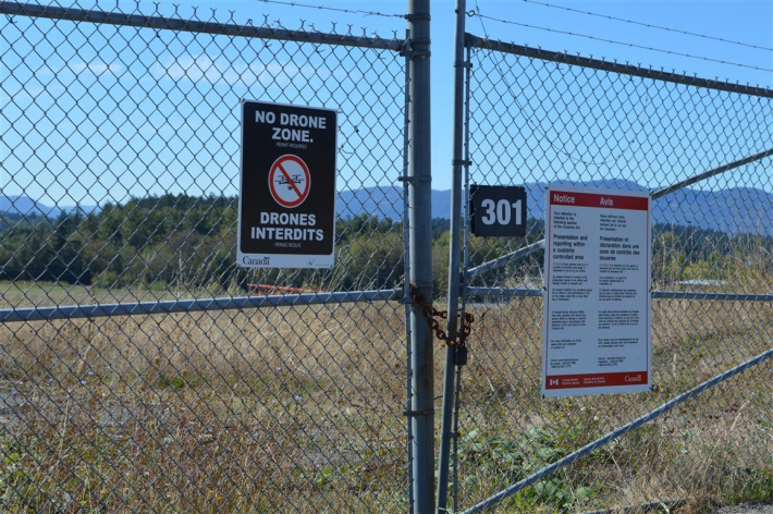 September - YYJ No Drone Signage place around perimeter of airport.