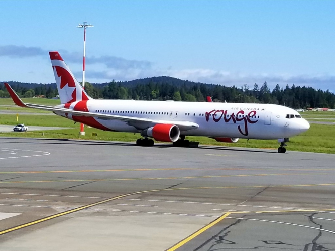 May - Air Canada Rouge B767 used for IROP (Irregular Operation).