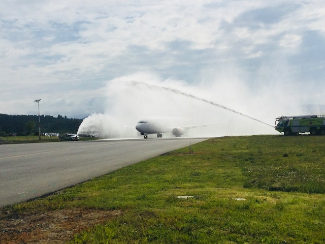 May - Air North Inaugural fight May 18th.  Water cannon salute welcome.