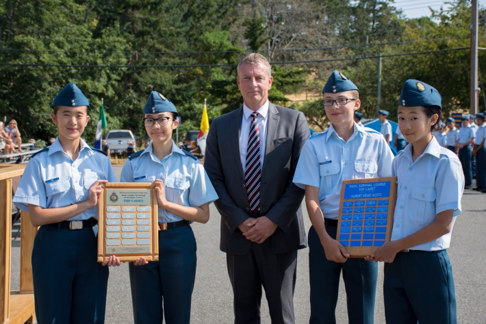 July - Airport Authority President and CEO Geoff Dickson was honoured to be the Reviewing Officer for Albert Head Air Cadets.