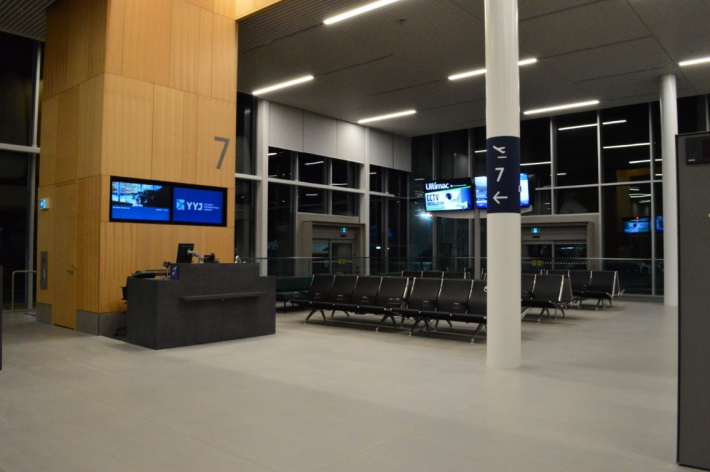 September - Lower Passenger Departure Lounge transition.
