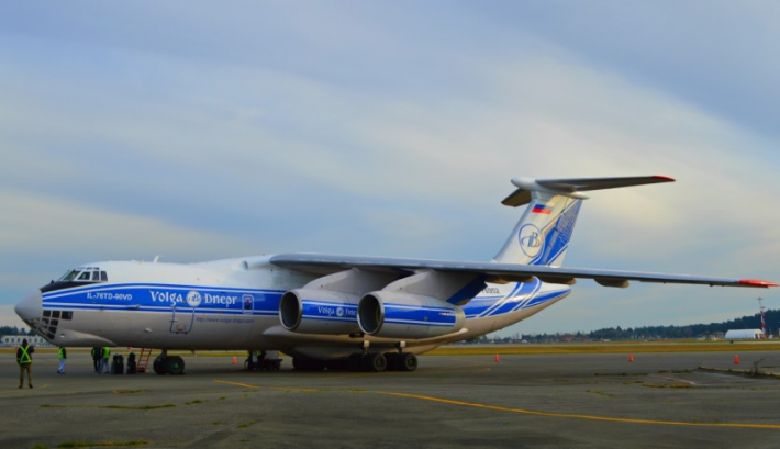January - Russian Cargo plane carrying firefighting helicopter to Chile.