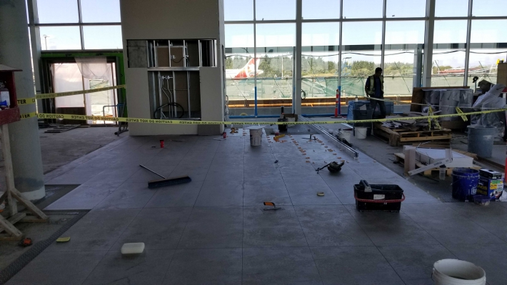 June - Lower Passenger Departure Lounge interior progress photo