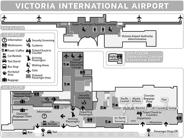 Victoria international airport yyj terminal building map - Planning and design of airports pdf ...